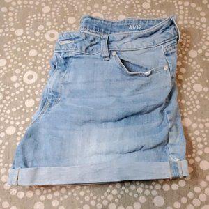 A.n.a blue Denim hem jean shorts